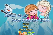 Anna Olaf Save Frozen Elsa